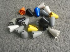 LEGO 3942 cone 2x2x2 mixed colours - all 20 of those shown