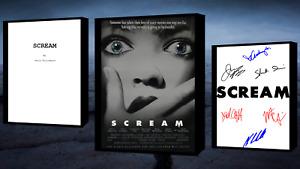 Scream Script/Screenplay Movie Poster Autograph Signed Print