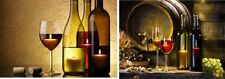 2 WINE DESIGN LED CANVAS WALL PLAQUES HOME DECOR  16 X 12 IN. RESTAURANT LOUNGE
