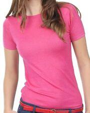 Balldiri 100% Cashmere Femmes col rond shirt foncé rose s