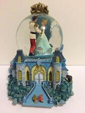 Disney Cinderella Prince Charm Jaq Gus Clock Tower Castle Coach Rotate Snowglobe