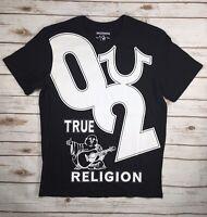 Mens True Religion Jean T-Shirt Black Buddha 02 Crew Tee Shirt S M L XL XXL XXXL