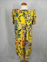 Ladies Dress Size 20 Yellow Off Shoulder Smart Casual Day Party Holiday