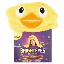 Snuggie Bright Eyes Kids~DARLING DUCK~Deluxe Glow in The Dark Eyes~Blanket