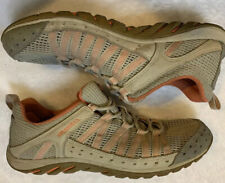 Merrell Women's Size 9 Hymist Hiking Shoes Silver Lining Coral Lace Up