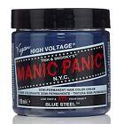 MANIC PANIC Classic Cream Blue Steel™ Semi-Permanent 4 oz Vegan Hair Dye.