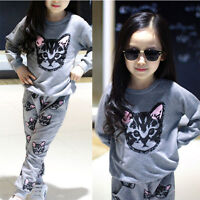 Baby Kids Girls Sweatshirts Pullover + Sweatpants Tops Sports Pants Outfits Sets