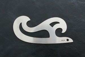 Stainless Steel French Curve Templates Leather Craft Edge Ruler Drawing Stensil