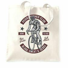 Cycling Tote Bag Pedal Pushers Cyclist Biker Club Road Biker Speed Racing