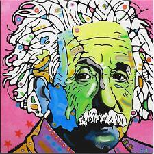 "Albert Einstein Oil Painting on Canvas Pop Art Wall decor Portrait 28x28"""