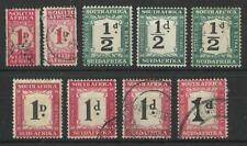 SOUTH AFRICA 1/2d,1d POSTAGE DUES SELECTION UNCHECKED MINT / USED