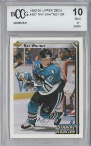 1992-93 Upper Deck Ray Whitney #407 BCCG Mint