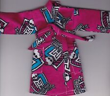 Homemade Doll Clothes-Monster High Print Flannel Robe fit Barbie/Ken/Elf R2
