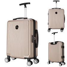 Reisekoffer Kabin Koffer Business Trolley Bordcase Handgepäck Champagne RK4217ch