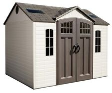 New Lifetime 60095 10 x 8' Plastic Storage Garden Shed Kit Building + Floor