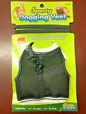 Sporty Jogging Vest w/Stretchy Leash - Small Pet Harness for Rabbits, Ferrets
