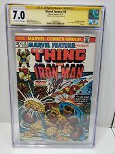 Marvel Feature #12 CGC 7 Signature Series Jim Starlin Signed Last Issue + Thanos