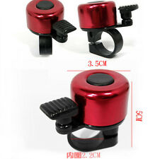 Red Bike Bicycle Cycling DI Bell Metal Horn Ring Safety Sound CA Alarm Handlebar