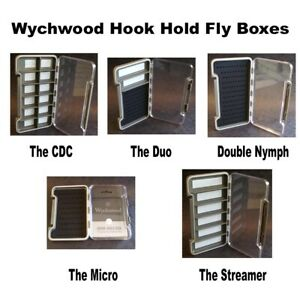 Wychwood Hook Hold Fly Boxes 5 Styles.Trout, Nymphs, Dry, Wet, Lures.