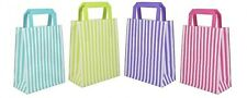 More details for candy stripe / brown / white paper sos carrier bags party gift wedding hen night