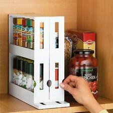 Cabinet Pantry Stackable Swivel Organizer Storage Expandable Kitchen Spice Rack