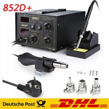 2in1 700W Lötstation Lötkolben Heißluft 480℃ Digital Regelbar Löten 852D+ SMD DE