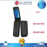 Alcatel Folding Phone 2053D  Dual Sim  Black - Flip Phone Big Button Phone