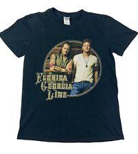Florida Georgia Line Usa Concert Tour T-Shirt 2014 Sz Small Black Country Music