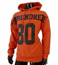 New The Hundreds Pullover Hoodie Rubber Logo Orange Mens MHD-22