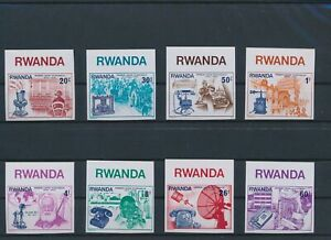 LO15911 Rwanda imperf telecommunication fine lot MNH