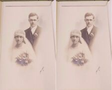 "2 Antique 5"" X 7""  ANNETTE ULMER & REINHOLD SEYDEL Wedding Photos Paper Frames"