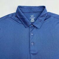 George Polo Shirt Men's Size 3XL XXXL Short Sleeve Blue Casual 100% Polyester
