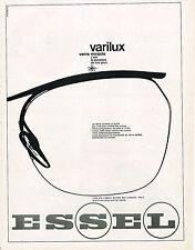 PUBLICITE ADVERTISING 114  1963  ESSEL  lunettes verres VARILUX
