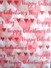 Valentine's Day Tissue Paper Premium Quality Wrapping Tissue 20 Sheets New!
