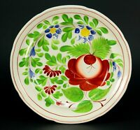 ~ Antique c.1799 Porcelain Plate Enoch Wood, Burslem Staffordshire, King's Rose