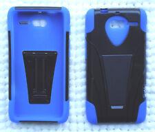 Motorola Droid RAZR M XT907 / RAZR i XT890 Phone Cover Case T-Stand BLUE/BLACK