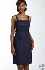 NWOT Sean Collection Beaded Dress SZ 14 NAVY BLUE