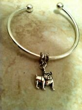 BULLDOG BANGLE Bracelet Silver, animal pet lover show