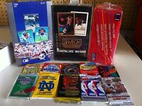 LOT OF 100 UNOPENED CARDS IN PACKS BASEBALL CARDS FOOTBALL CARDS HOCKEY