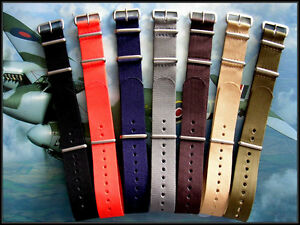 NATO ® Ballistic Nylon MoD RAF military G10 watchband Sport strap Bond IW SUISSE