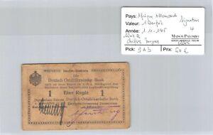 Deutsch-Ostafrikanische Afrique Allemande 1 Roupie 1.11.1915 n° 53185  Pick 9Ab