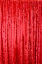 """PANNE VELVET RED Crush Velour Curtain Drape Panel Back Drop 60"""" WIDE"""