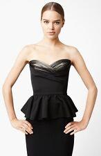 $1,695 Alexander McQueen Duchesse Peplum Satin Blouse Bustier Top IT46 U.S 8