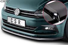 Cup Spoiler Front Ansatz Lippe Schwert für VW Polo VI 2G AW Hochglanz ab 2017