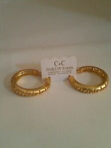 CC solid 18k gold Earrings
