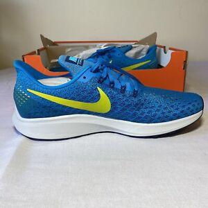 Nike Air Zoom Pegasus 35 Mens 942851-400 Blue Yellow Orbit Running Shoes Size 11