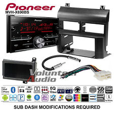 Pioneer Double Din CD Player Car Radio Install Mount Kit Harness