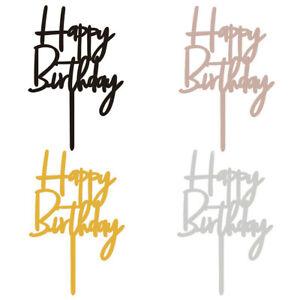1pc Happy Birthday Acrylic Cake Topper Cupcake Dessert Decor Party Supplies