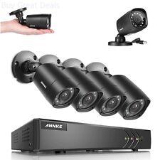 Annke 8-Channel HD-TVI 1080P Lite Video Security System DVR Weatherproof Cameras