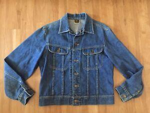 vintage Lee Riders sanforized denim jacket blue cotton mens